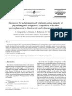 Biosensors for Determination of Total Antioxidant Capacity of Phytotherapeutic Integrators