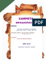 CARPETA PEDAGÓGICAJose Gallarday