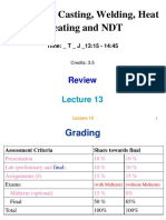 Lecture 13 Review