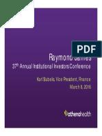 Athenahealth Raymond James 2016 3.8.16 FINAL (Webcast Version)