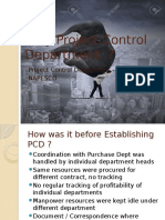 Why Project Control Department