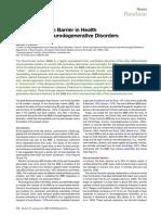 BBB in Health and Chronic Neurodegenerative Disorders