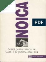 Constantin Noica, Schita pentru istoria lui Cum e cu putinta ceva nou.pdf