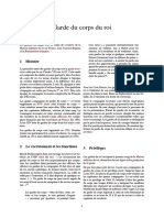 0 UNIF FRANCE - Garde Du Corps Du Roi