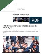 La Razón (Bolivia) | FAO