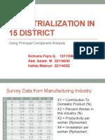 Industrialization in 15 District - PCA