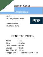 Laporan Kasus cholelitiasis