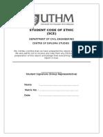 Student Code of Ethic UTHM