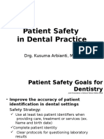 LBM 5. Patient Safety in Dental Practice