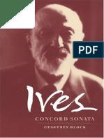 Ives Concord Sonata, By Geoffrey Block (Cambridge Music Handbooks)
