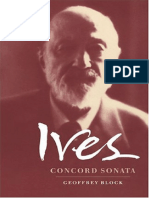 Ives Concord Sonata, By Geoffrey Block (Cambridge Music Handbooks)