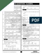Previous Questions - Algebra