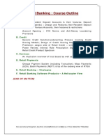 Retail Banking Overview IIM Rohtak