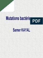 Mutations Bactériennes