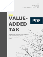 TAXATION - Value-Added Tax