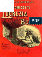 Donizetti Lucrezia Borgia Vocal Score Ed. Ricordi