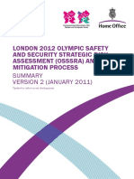 London 2012 Olympic Safety and Security Strategic Risk Assessment (OSSSRA) and Risk Mitigation Proces