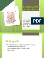 Biomecánica de Muñeca