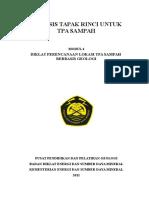 Modul TPA - Analisis Tapak Rinci