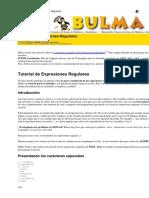 Tutorial Expresiones Regulares