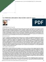 Les Médecines Alternatives Dans La Lutte Contre Le Cancer » Cest, France, Cette, Beljanski, Breuss, Pour » Ominium Des Libertés
