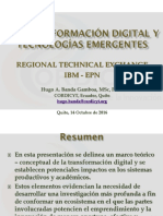 Regional Technical Exchange IBM-EPN Oct2016