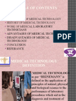 Medical Technology in Present Generation