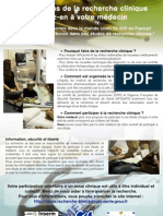 """""""Nous faisons de la recherche clinique Parlez-en à votre médecin"""" (c) CHU de Toulouse"""