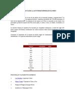 Importancia de La Actividad Minera en El Peru