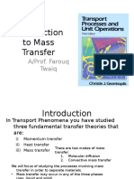 Week 1 Introduction to Mass Transfer