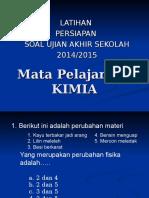 Kumpulan Soal - Soal Uas Kimia 2015