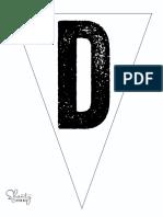 Print Letter D Banner