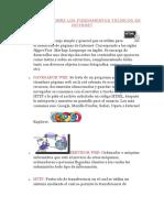 Conceptos Sobre Los Fundamentos Técnicos de Internet