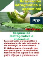 Respiración Diafragmática o Abdominal
