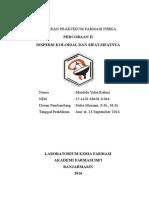 Laporan Praktikum Farmasi Fisika II