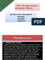 Perencanaan Dan Perorganisasian- Perorganisasian Bisnis