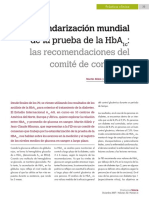 Silink y Mbanya. 2007. Estandarización Mundial de La Prueba de La HbA1c Las Recomendaciones Del Comité de Consenso