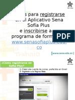 Pasos Para Registrarse e Inscribirse en Sofia Plus