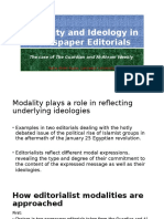 Modality and Ideology in Newspaper Editorials