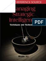 Mark Xu Managing Strategic Intelligence Techniques and Technologies Premier Reference 2007