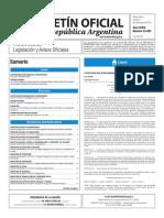 Boletín Oficial de la República Argentina, Número 33.497. 04 de noviembre de 2016