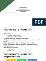 Toothpaste Industry - Segmentation