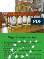 Developing the ORGANIC Romanian Wine Tourism Industry