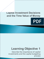 Capital Investment and Time Value of Money