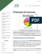 20 Ejemplos de Fracciones