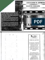 Adorno Theodor y Eisler Hanns El Cine y La Musica