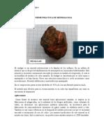 Practica de Mineralogia Oro