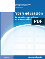 VOZ Y EDUCACIÓN. La Narrativa Como Enfoque de Int. de La Realidad