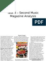 Task 3 – Second Music Magazine Analysis