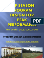 Mike Durand-WIAA Off-Season Program Design for Peak Performance